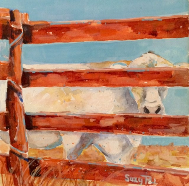 """""""I Can't See"""" original fine art by Suzy 'Pal' Powell"""