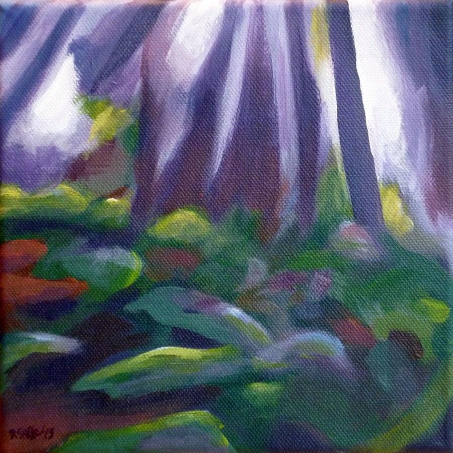 """""""0551 Forest Fairy - Waldfee"""" original fine art by Dietmar Stiller"""