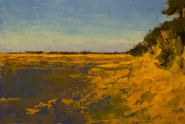 """""""Marsh, Fall Gold"""" original fine art by Mary Gilkerson"""