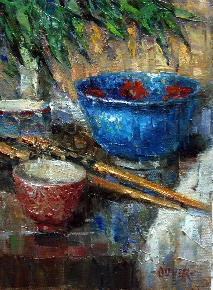 """Made in China"" original fine art by Julie Ford Oliver"