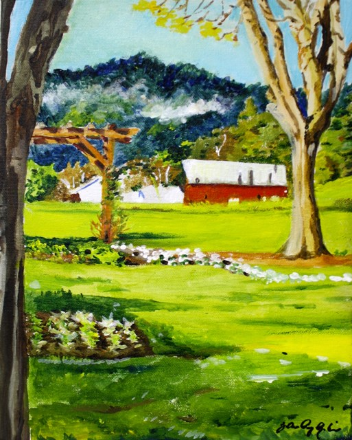 """""""Another Day at the Office"""" original fine art by JoAnne Perez Robinson"""