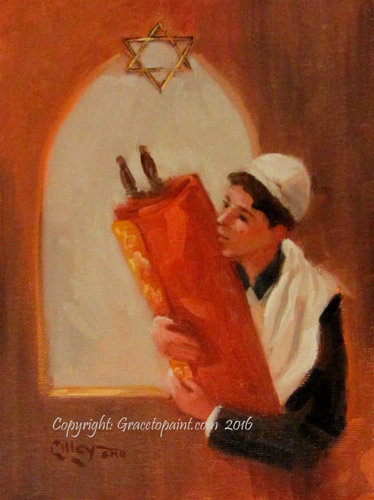 """""""Torah"""" original fine art by Maresa Lilley"""