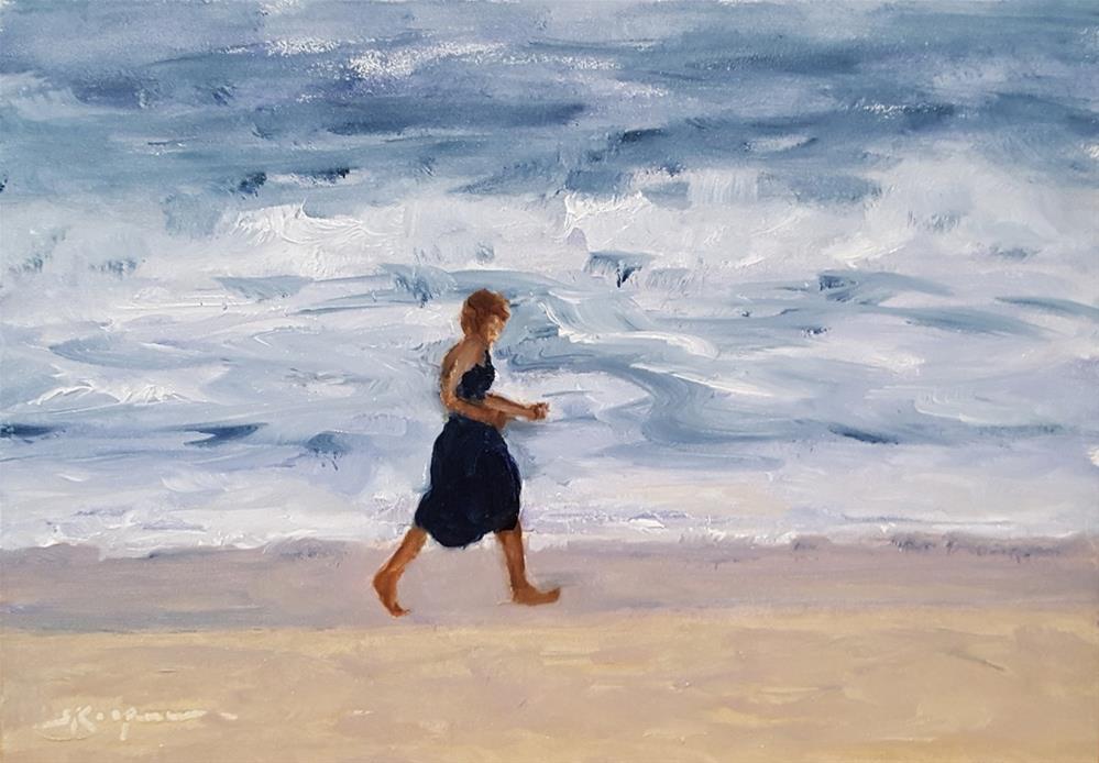 """""""Ocean Power Walking"""" original fine art by Shelley Koopmann"""