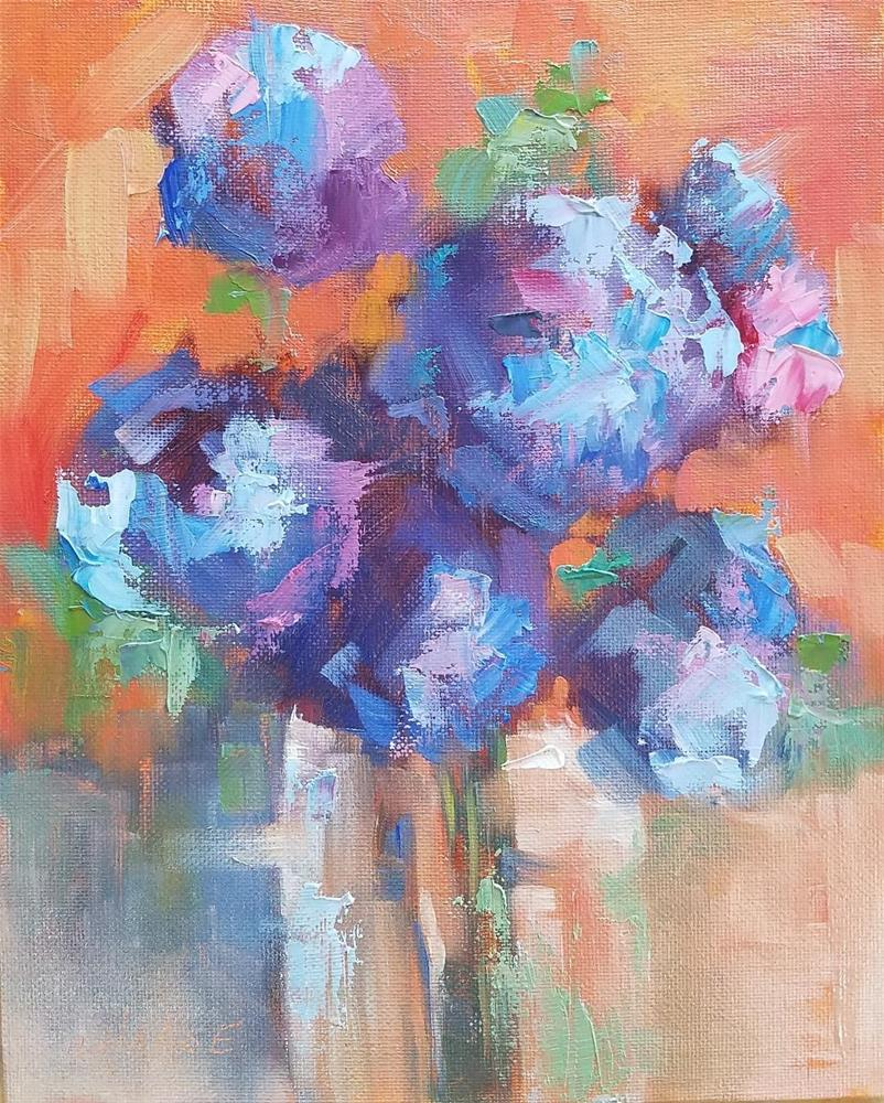 """""""Composition in Blue II"""" original fine art by Cindy Haase"""