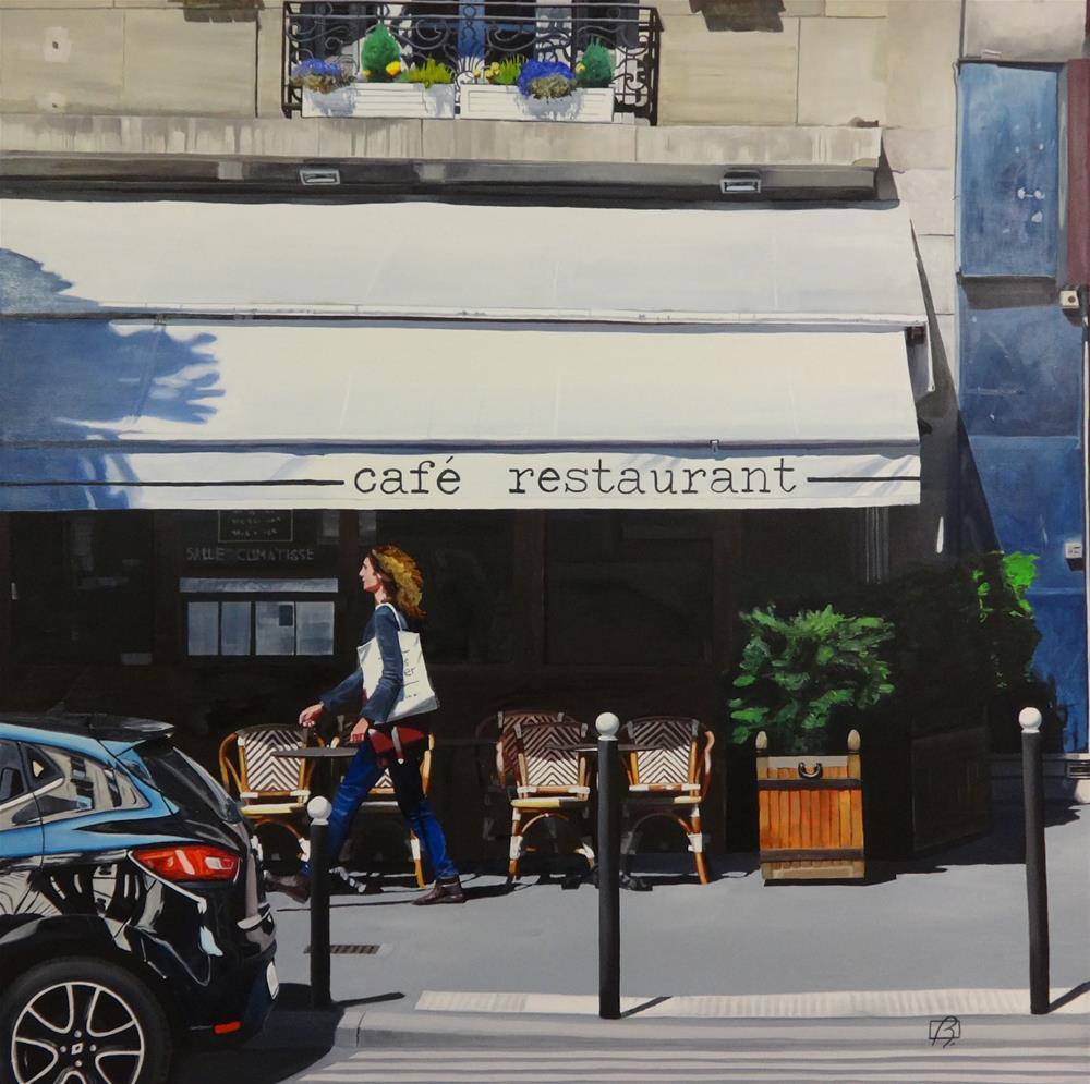 """""""Café Sud Ouest & Cie"""" original fine art by Andre Beaulieu"""