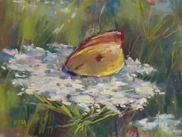 """""""A Summer Painting Assignment"""" original fine art by Karen Margulis"""
