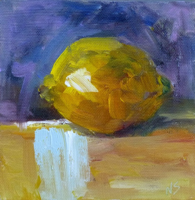 """Lemon 14037"" original fine art by Nancy Standlee"