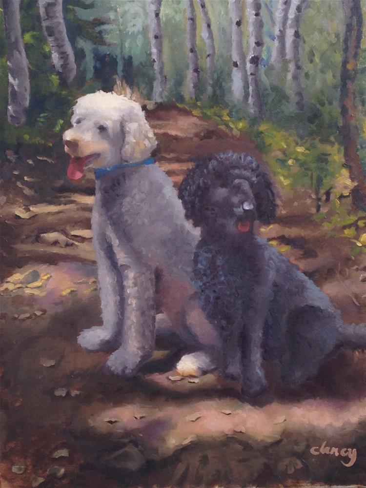 """""""Tessa and Josie"""" original fine art by Catherine Clancy"""