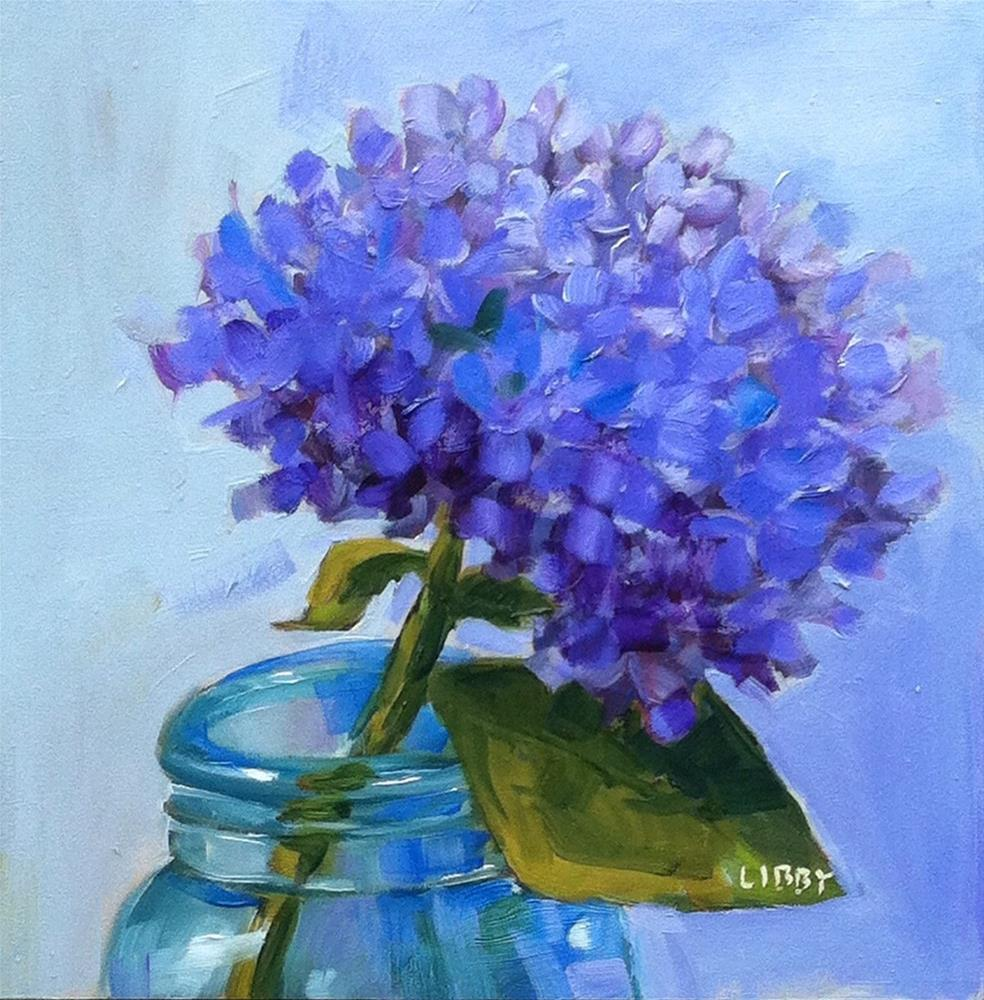 """Single Blue"" original fine art by Libby Anderson"