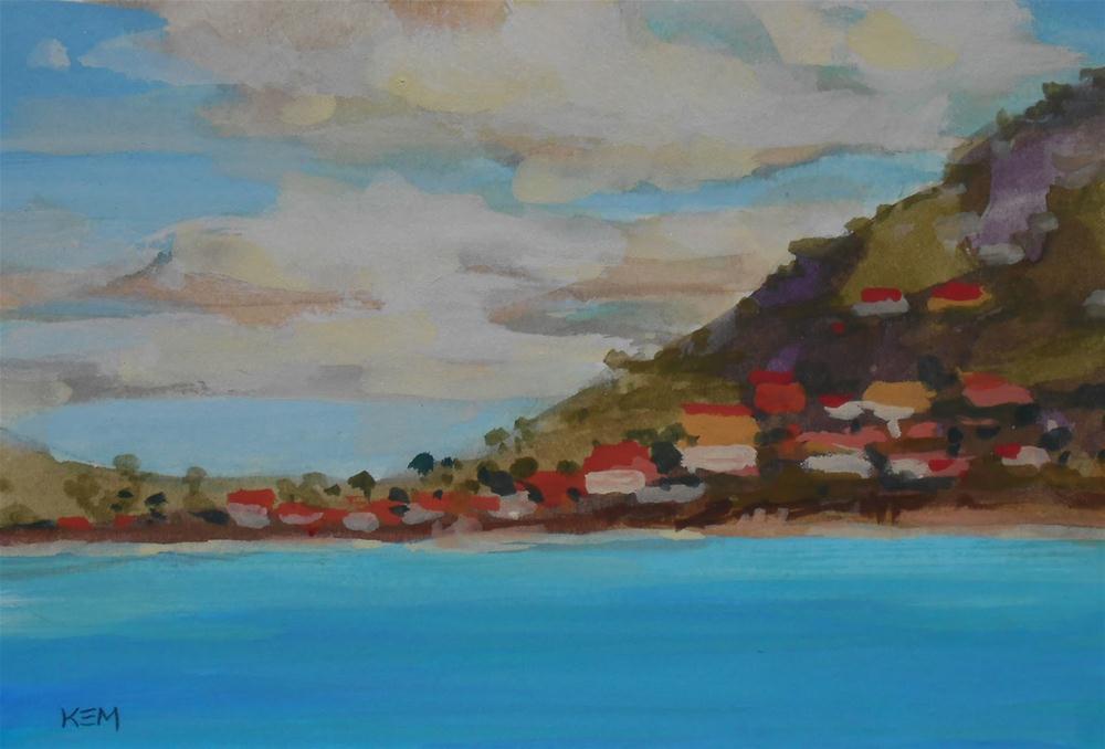 """""""Plein Air in St. Maarten"""" original fine art by Karen Margulis"""