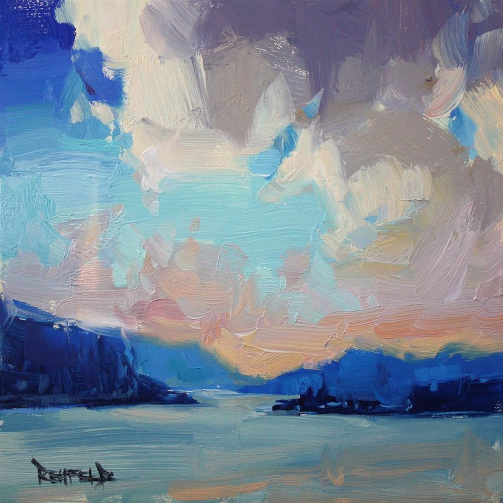 """The Gorge Sunset"" original fine art by Cathleen Rehfeld"