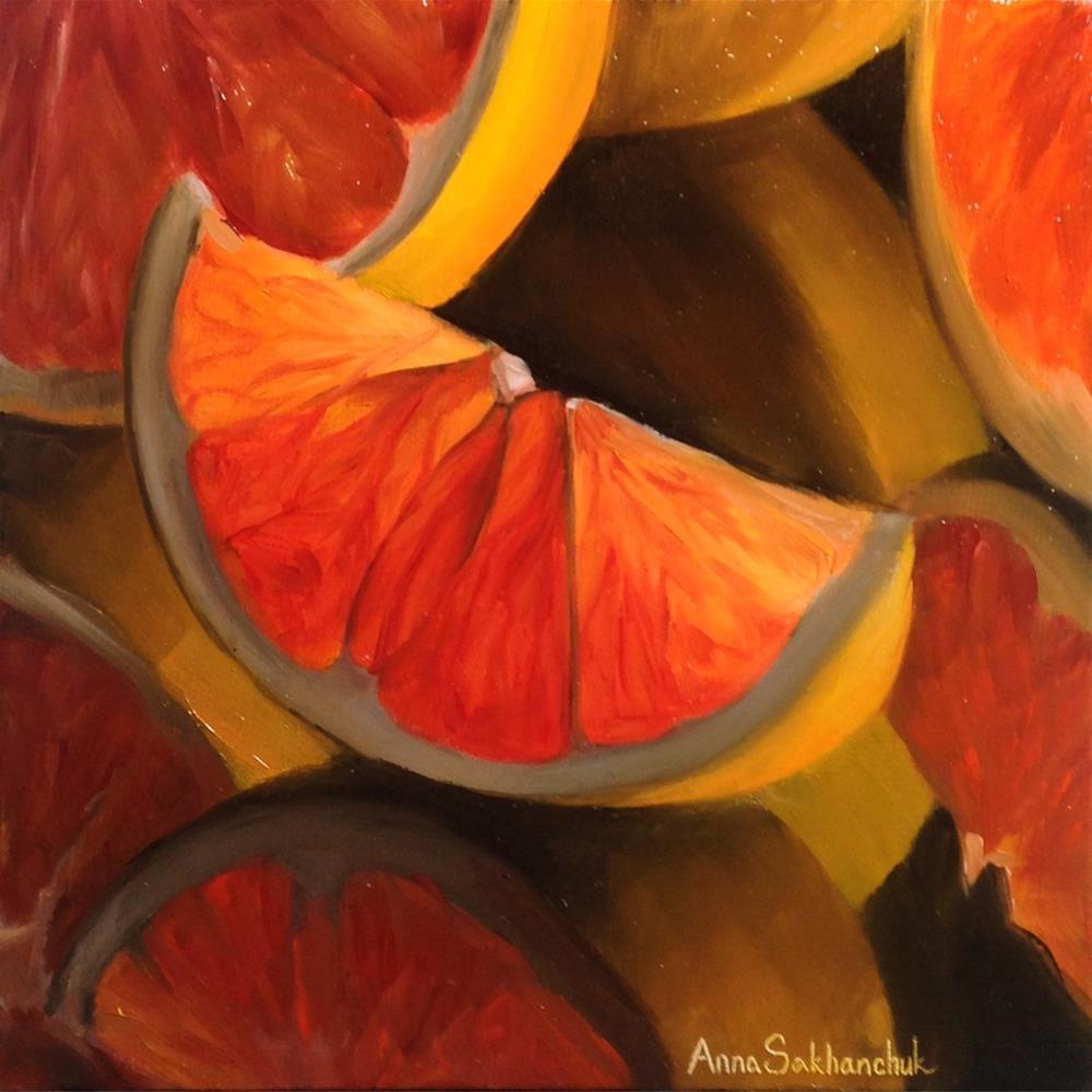 """""""Red oranges"""" original fine art by Anna Sakhanchuk"""