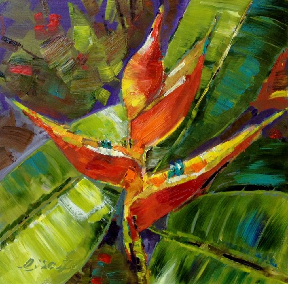 """Heliconiaceae"" original fine art by Lisa Fu"