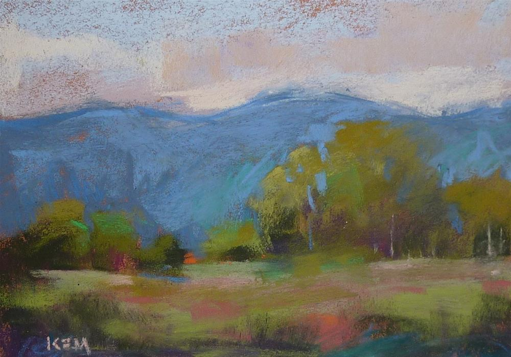 """""""T is for Traveling Artists  Taos Painting"""" original fine art by Karen Margulis"""