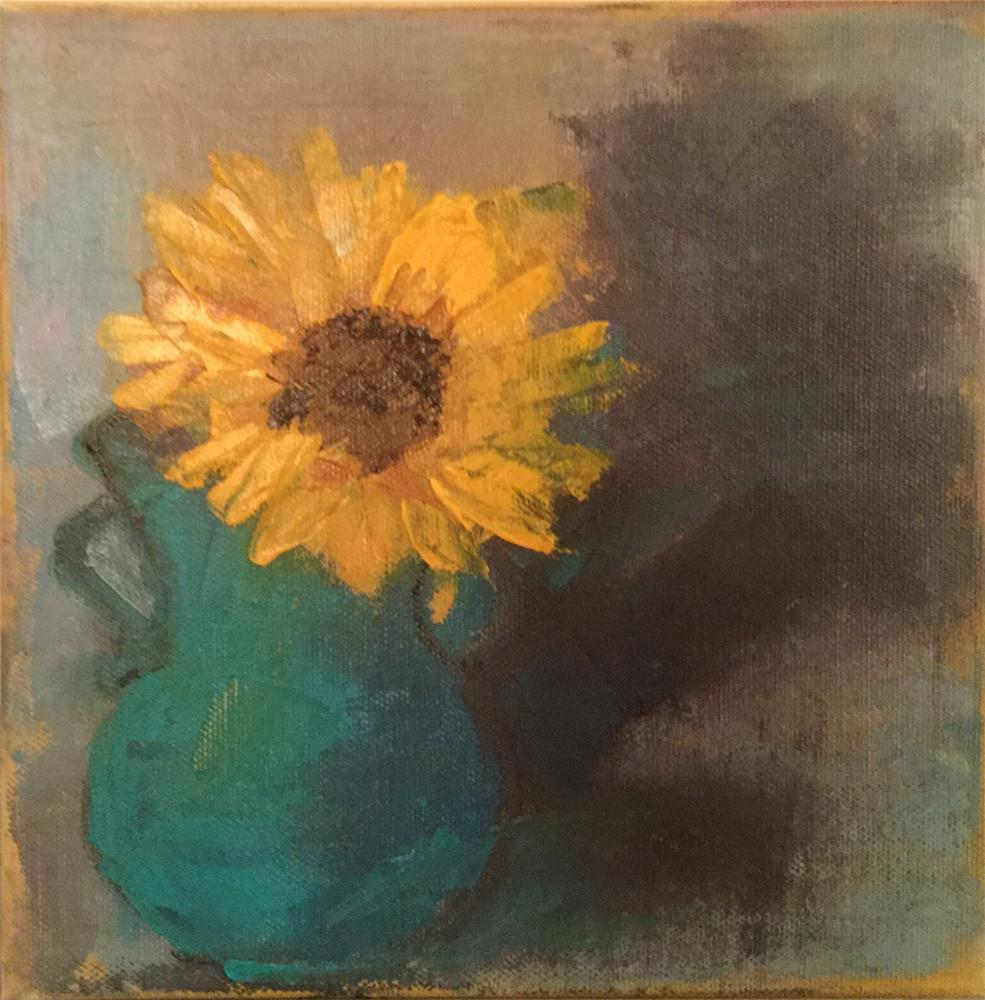 """Sunflower and Shadow"" original fine art by Carol Wiley"
