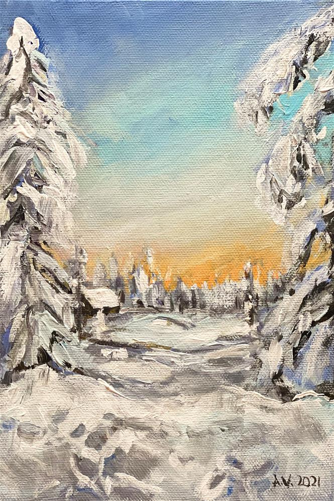 """""""Winter"""" original fine art by Alina Vidulescu"""
