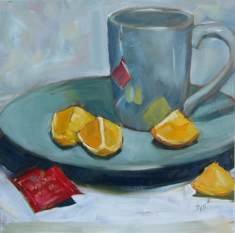 """Tea snack"" original fine art by Sandy Haynes"