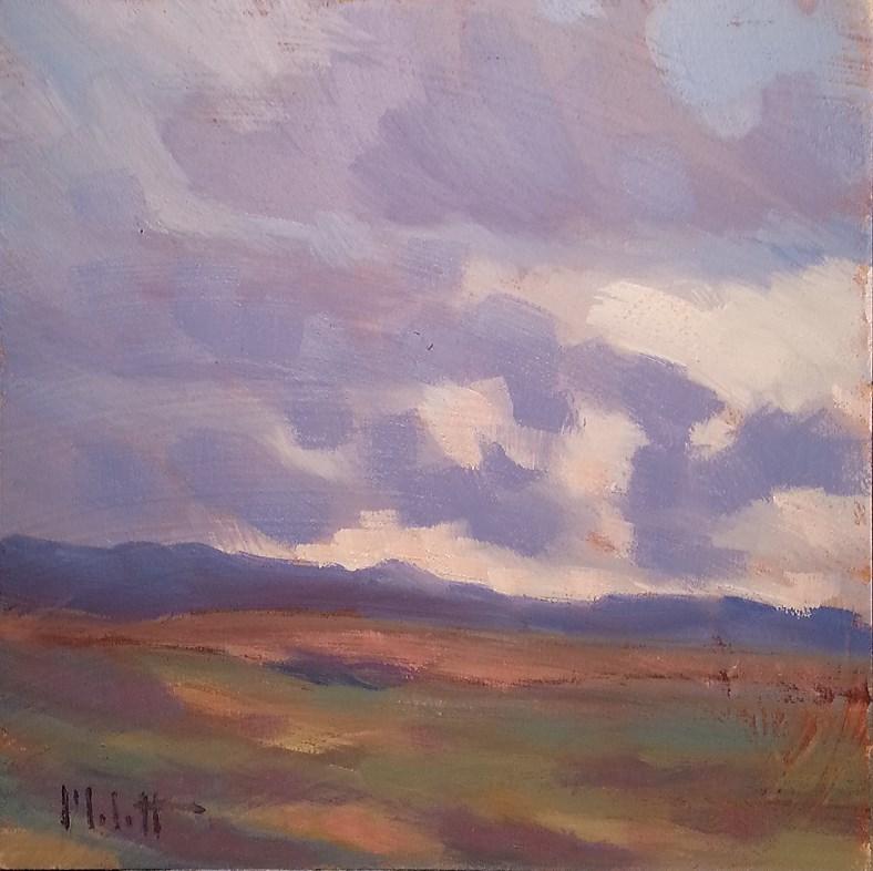 """""""Break in the Clouds Original Oil Painting Impressionism"""" original fine art by Heidi Malott"""