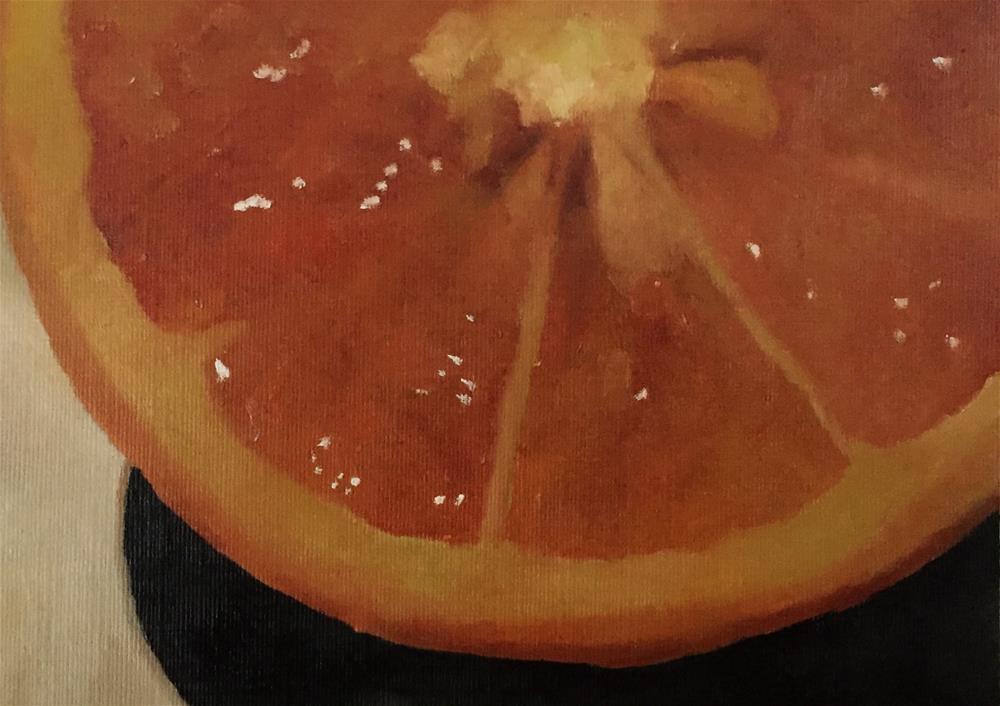 """Orange Slice"" original fine art by John Cameron"