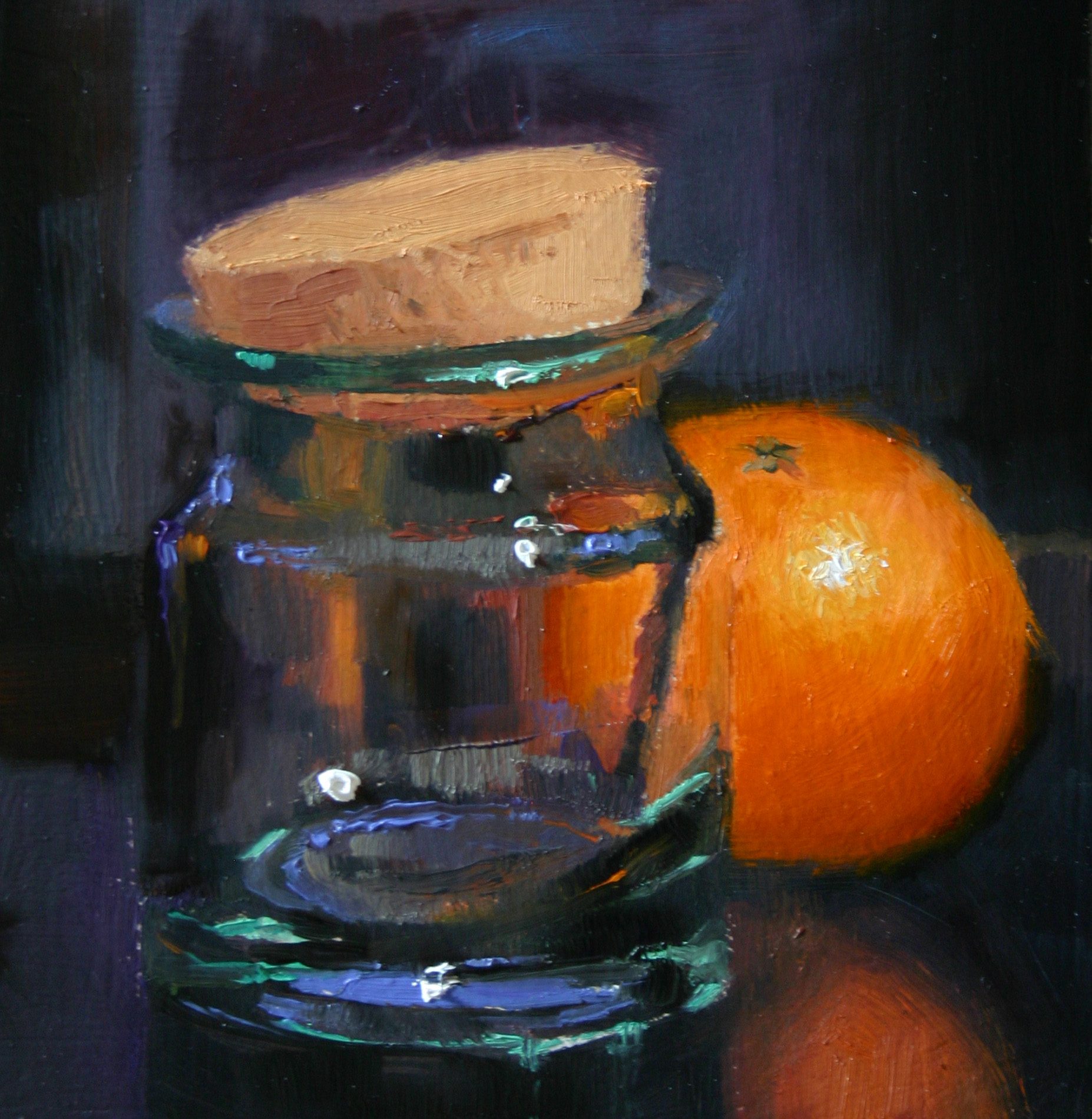 """Thro' a glass darkly"" original fine art by Liz Balkwill"