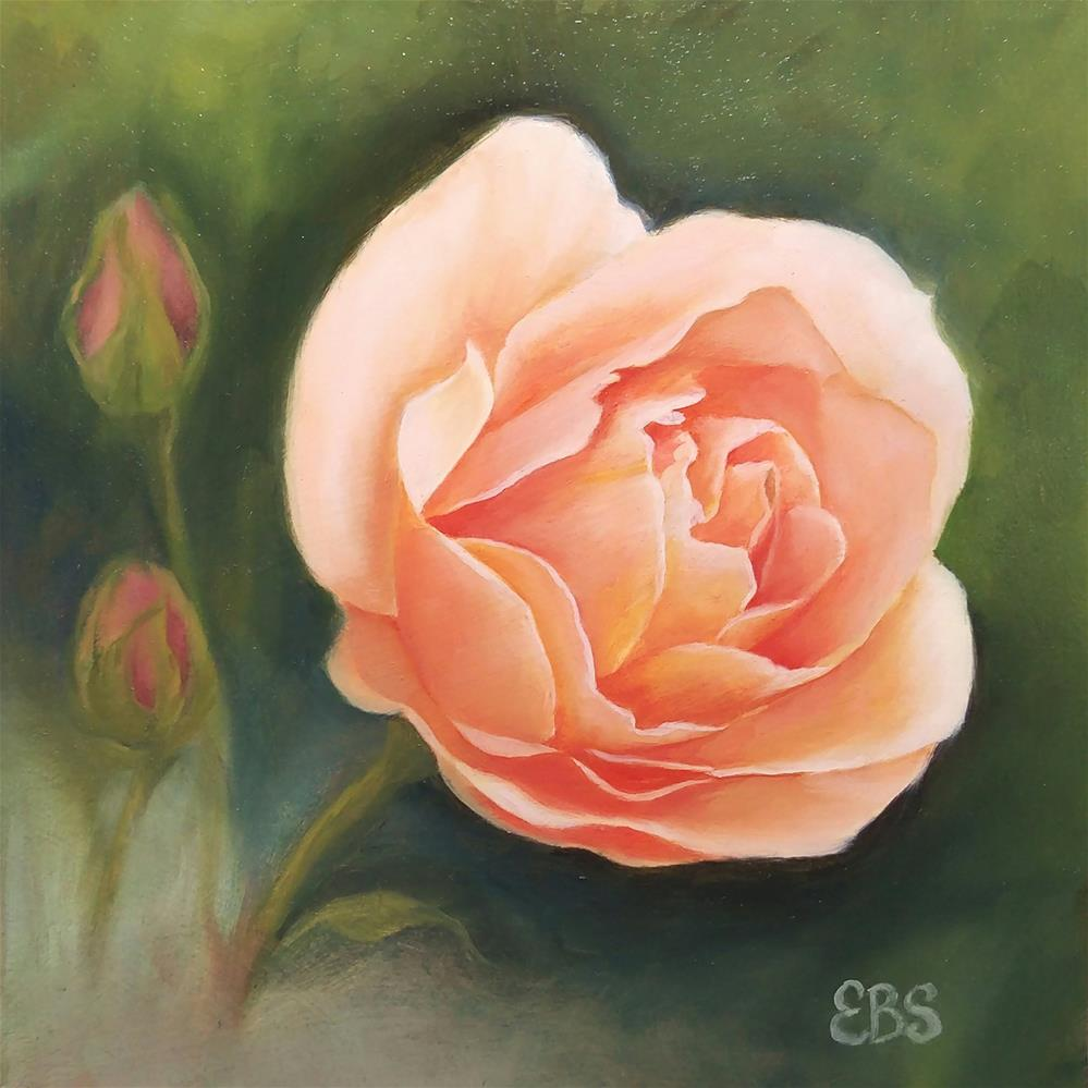 """Jane's Rose"" original fine art by Elaine Brady Smith"