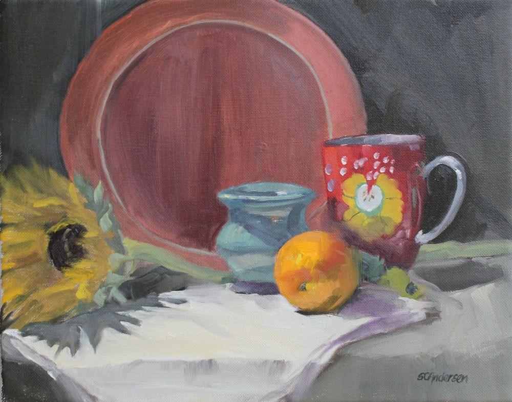 """The orange"" original fine art by Susan Andersen"