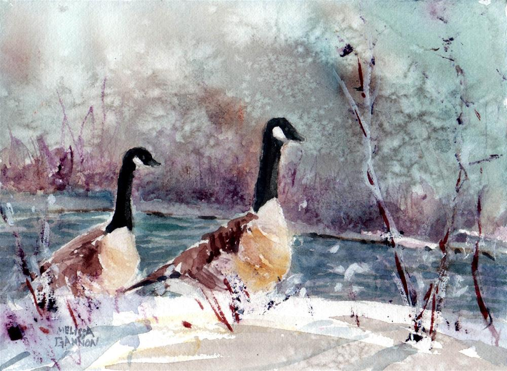 """Snow & Geese"" original fine art by Melissa Gannon"
