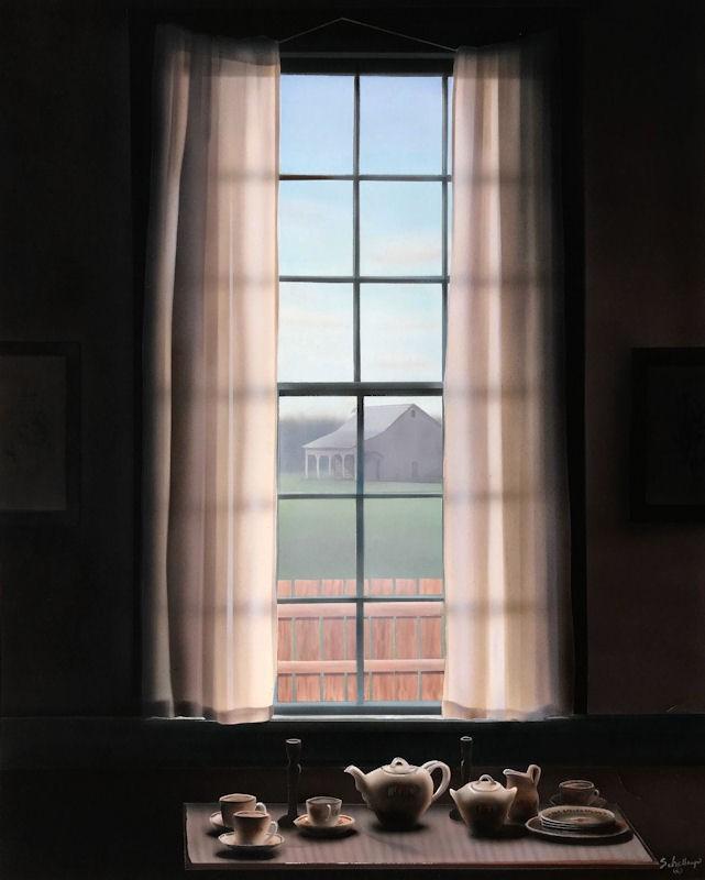 """Farm House Window"" original fine art by Fred Schollmeyer"