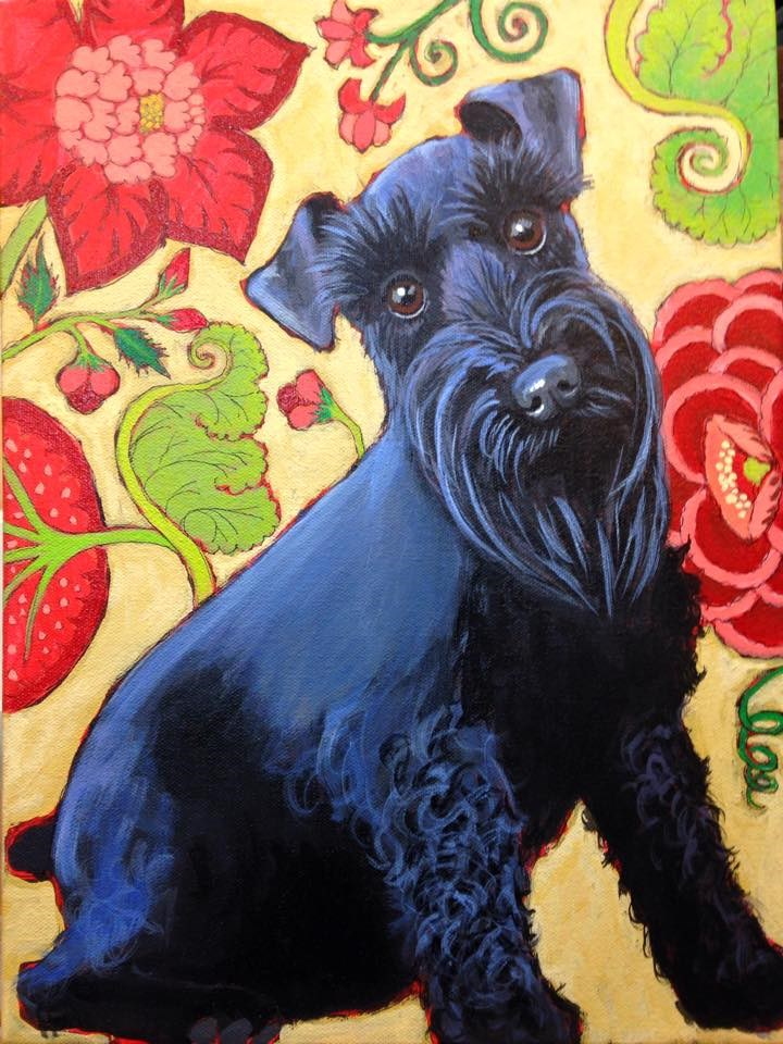 """Miss Lizzie"" original fine art by Ande Hall"