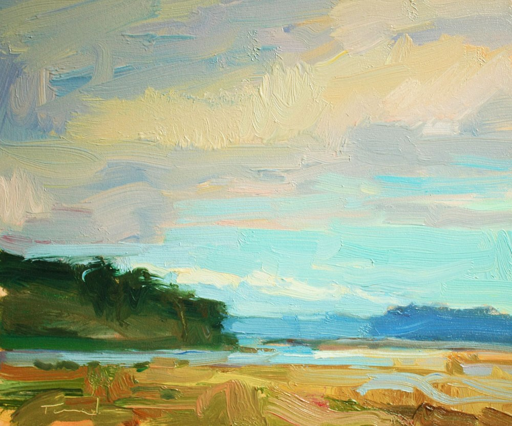 """Nisqually Sky"" original fine art by Kathryn Townsend"