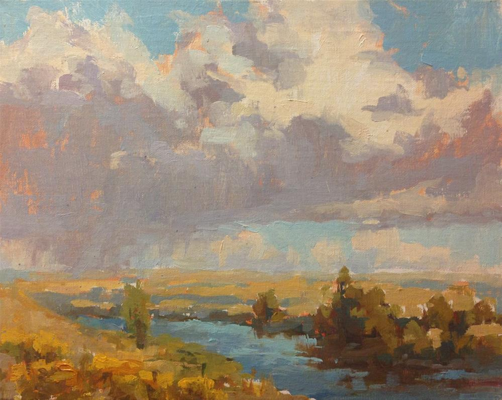 """""""Clouds Above the Columbia"""" original fine art by Melanie Thompson"""