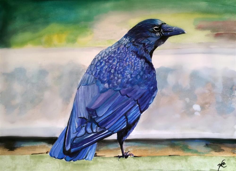 """""""Raven Nevermore"""" original fine art by Dana C"""