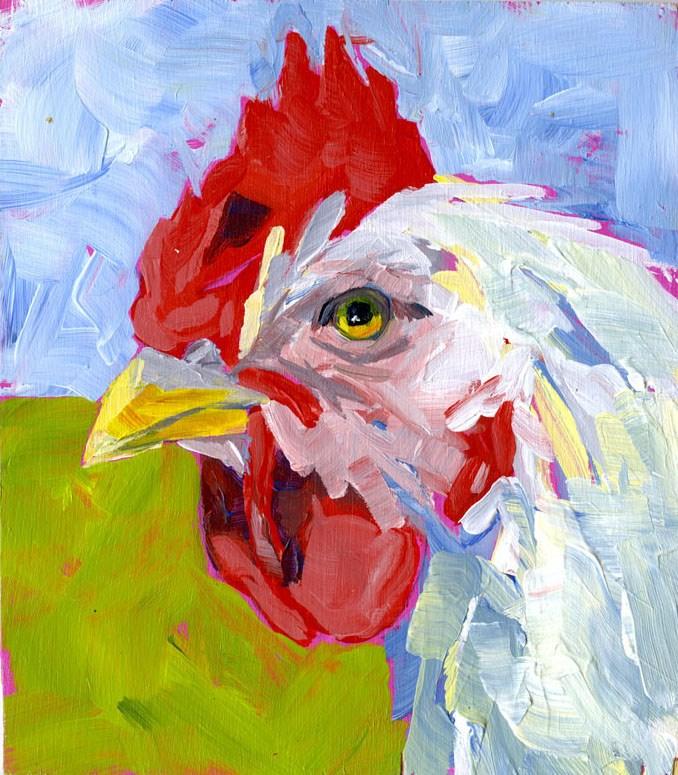 """""""Rooster No.1"""" original fine art by Eileen Hennemann"""