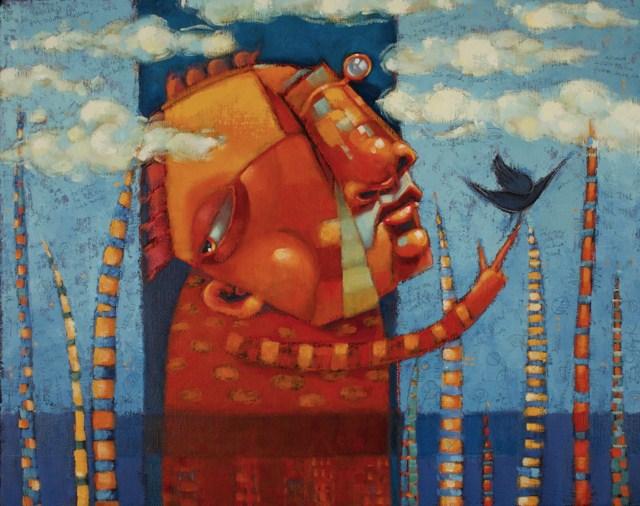 """Dreamer. (Not The Only One)"" original fine art by Brenda York"