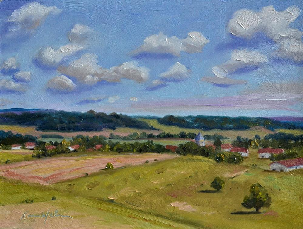 """The Valley"" original fine art by Karen Weber"