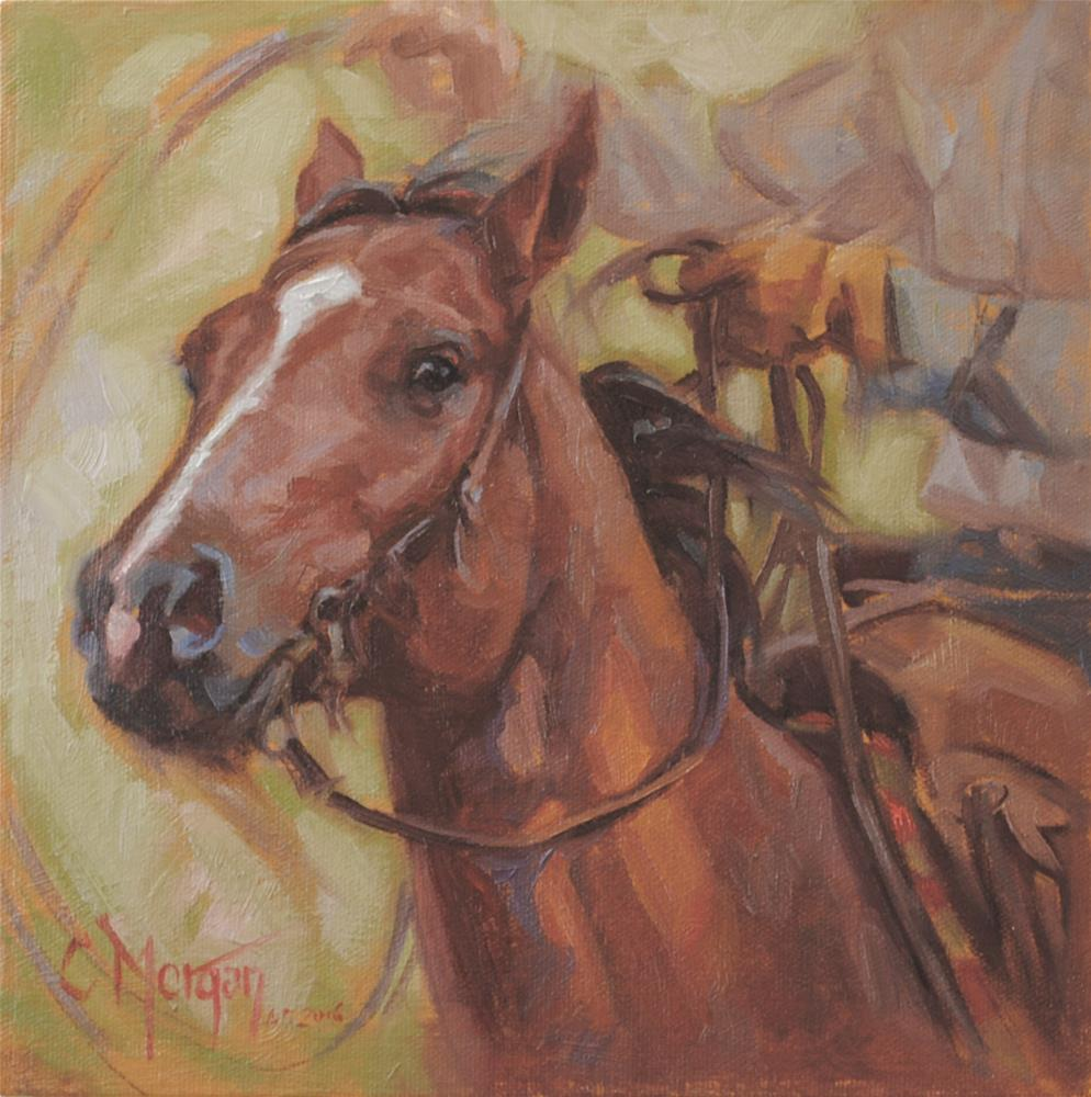 """""""Another Day at the Office"""" original fine art by Cecile W. Morgan"""