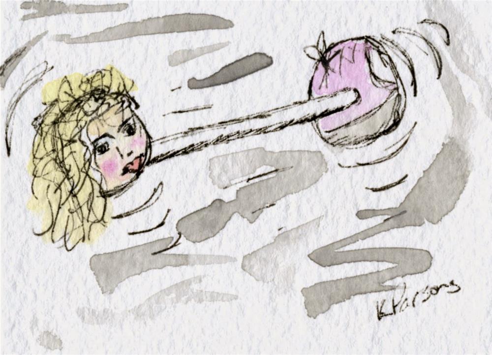 """I'm a Dumbbell"" original fine art by Kali Parsons"