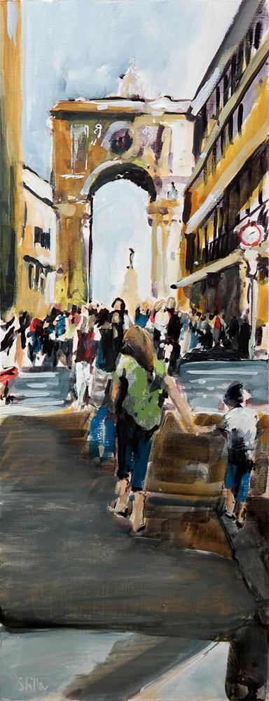 """""""2408 Arco da Rua Augusta"""" original fine art by Dietmar Stiller"""