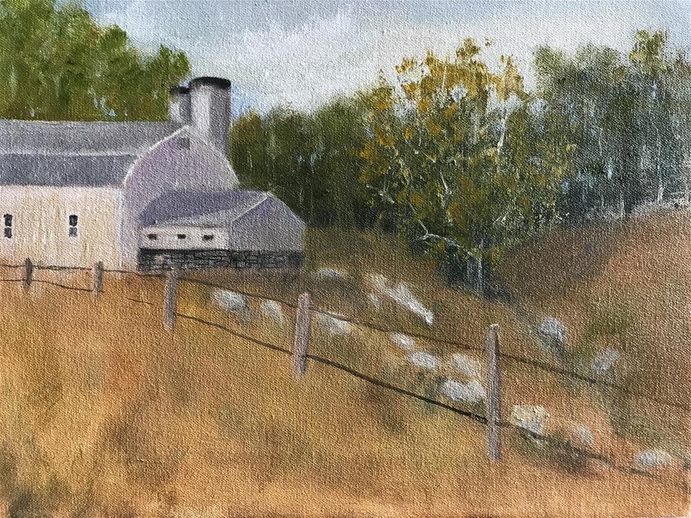 """Back of the barn"" original fine art by Betty Argiros"