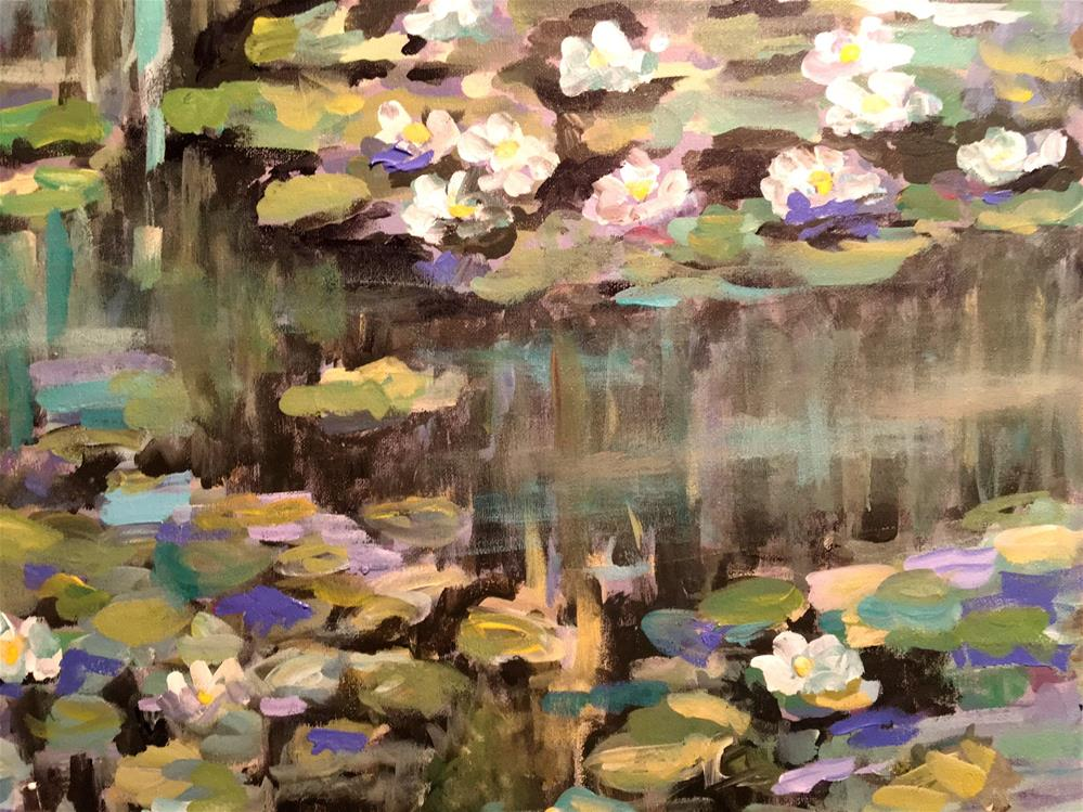 """George Core Park LilyPads"" original fine art by Susan Elizabeth Jones"