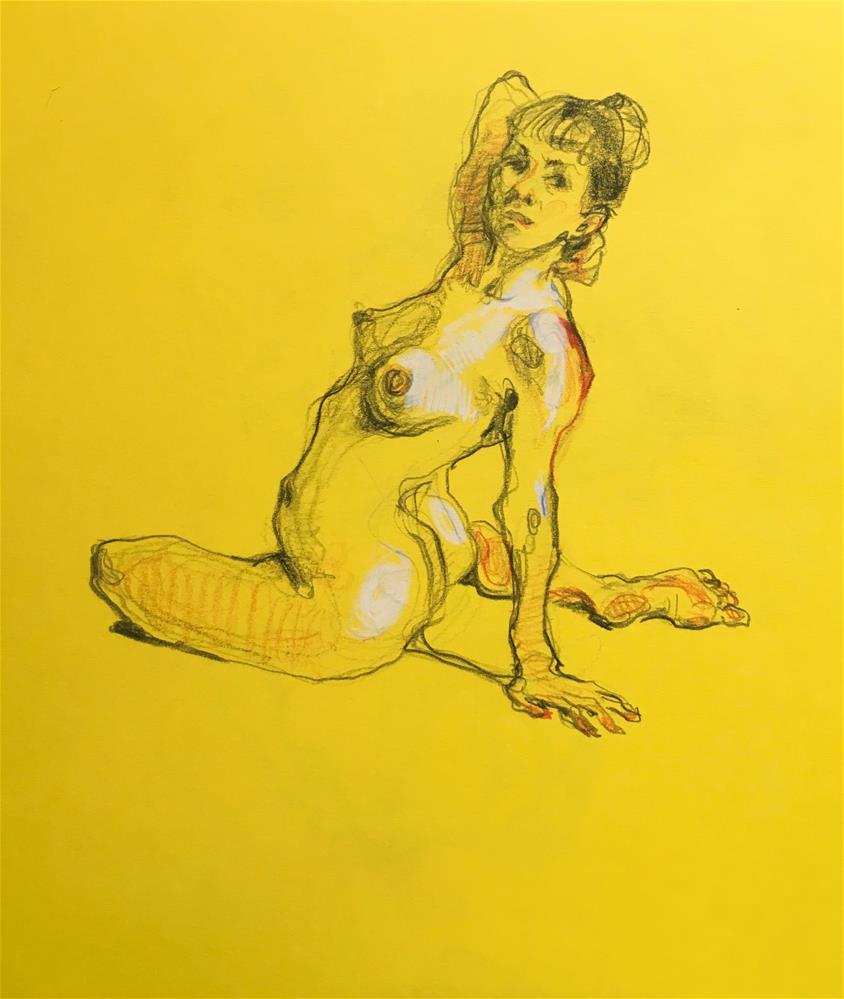 """Figure89"" original fine art by Katya Minkina"