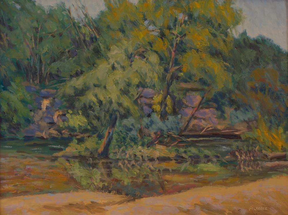 """""""Another Great Day on the River"""" original fine art by Daniel Fishback"""