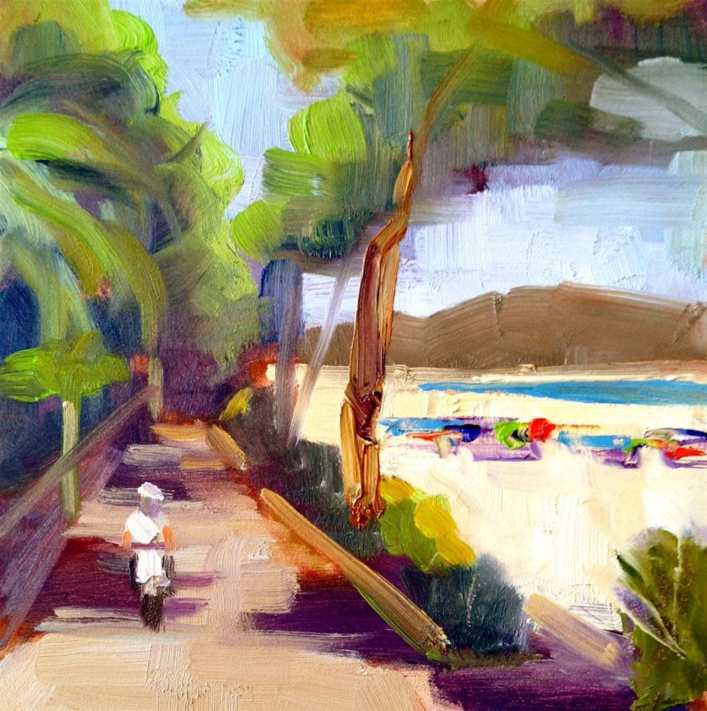 """A Slice of Paradise, 6x6"" original fine art by Ann Feldman"