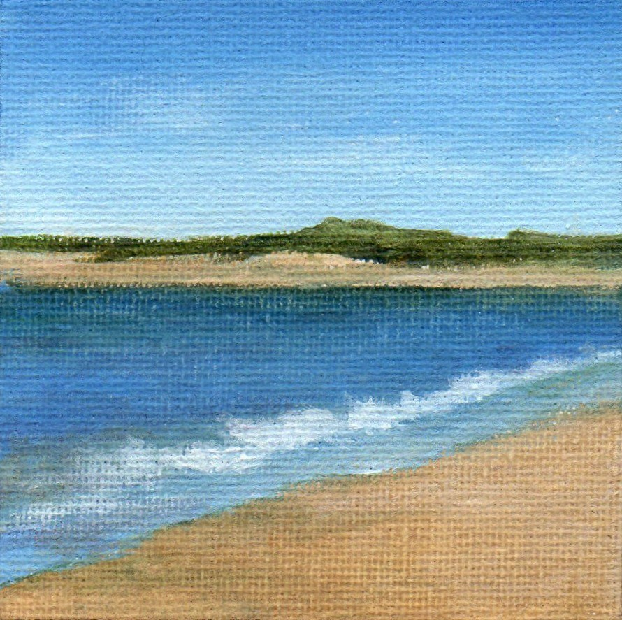 """Quiet Beach"" original fine art by Debbie Shirley"