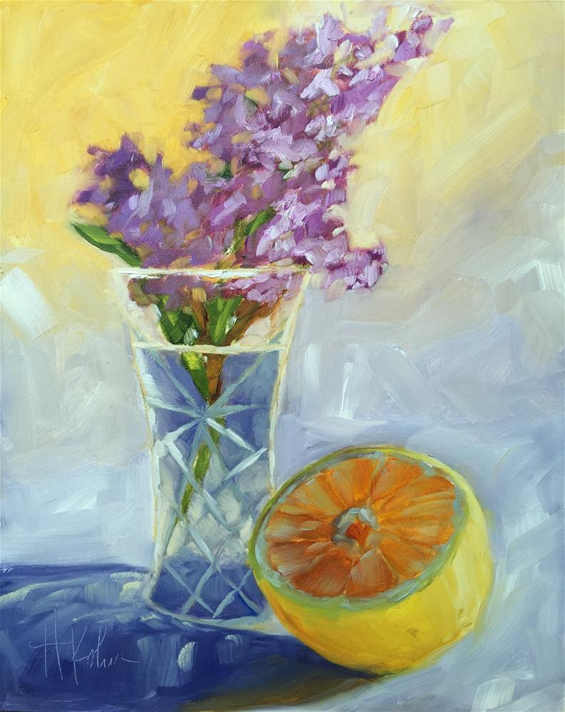 """Lilac & Lemon"" original fine art by Hallie Kohn"