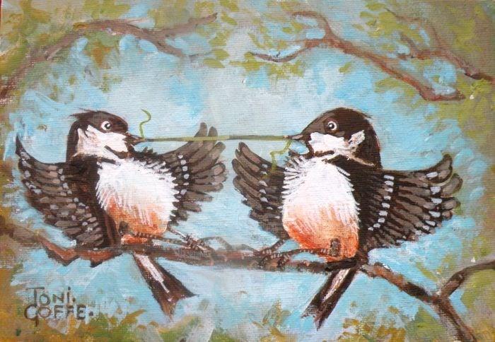 """Mine!"" original fine art by Toni Goffe"