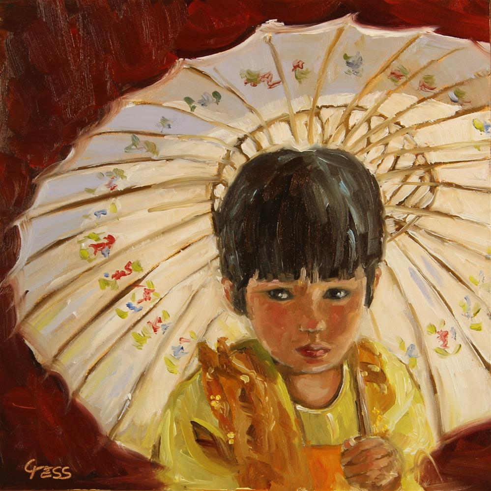 """China Girl- David Bowie"" original fine art by Tess Lehman"