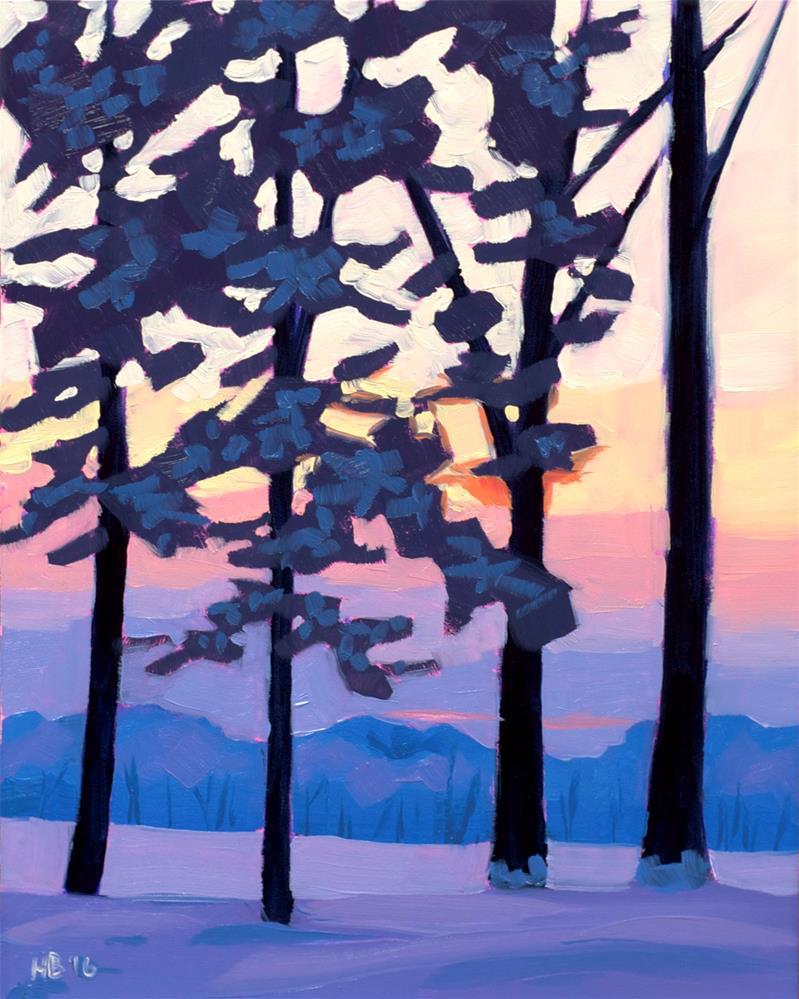 """Winter Pines"" original fine art by Heather Bullach"