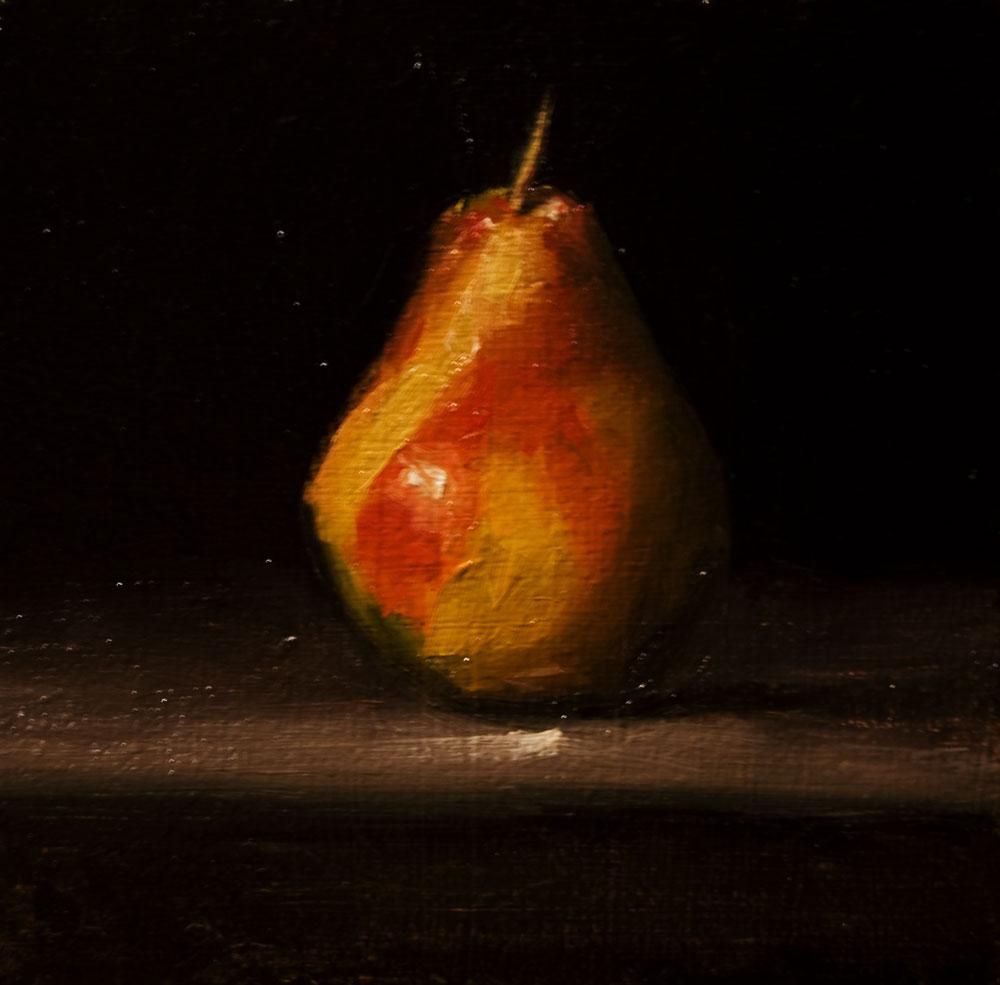 """Pear No. 3"" original fine art by Neil Carroll"