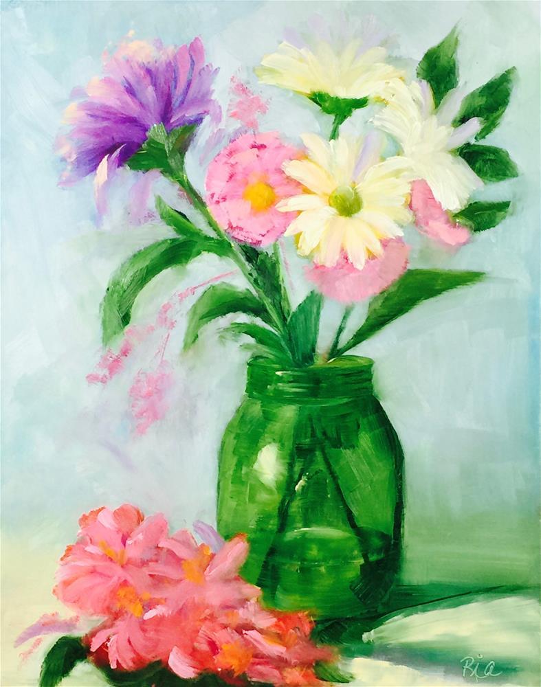 """Arranging"" original fine art by Maria Reed"
